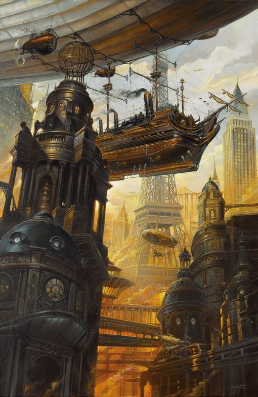 Visions of the future in Steampunk Digital & Traditional Art. To see more art and information about Didier Graffet click the image.