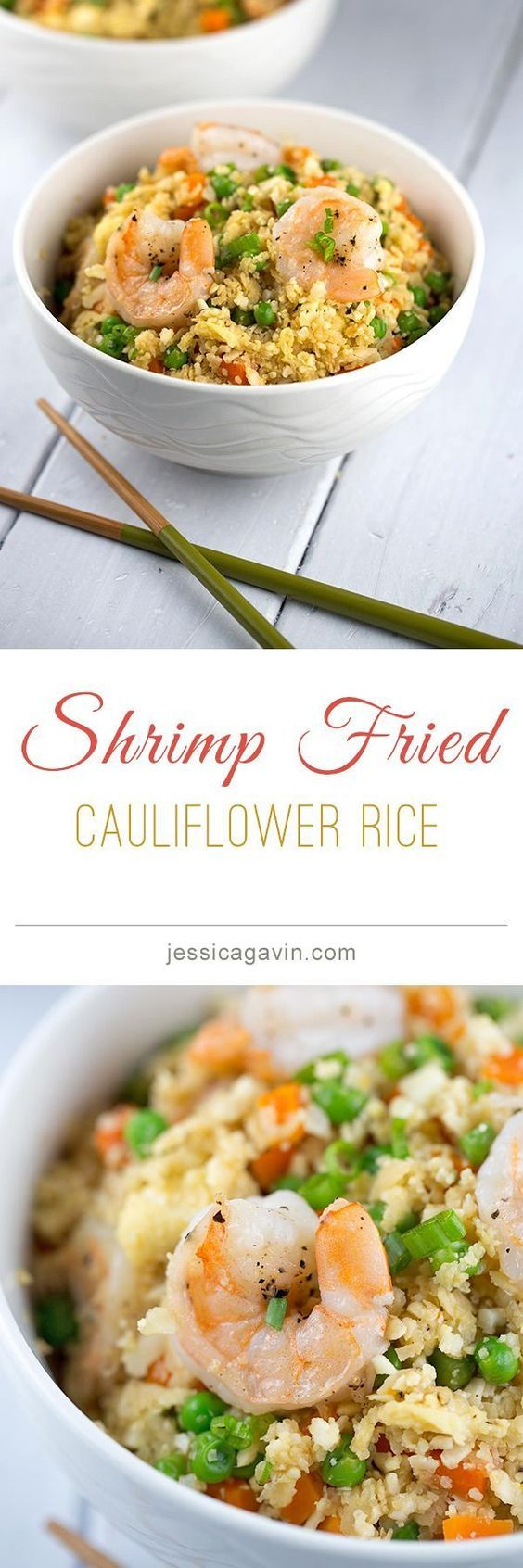 "Low Carb alternative, Shrimp Fried ""Cauliflower"" Rice 