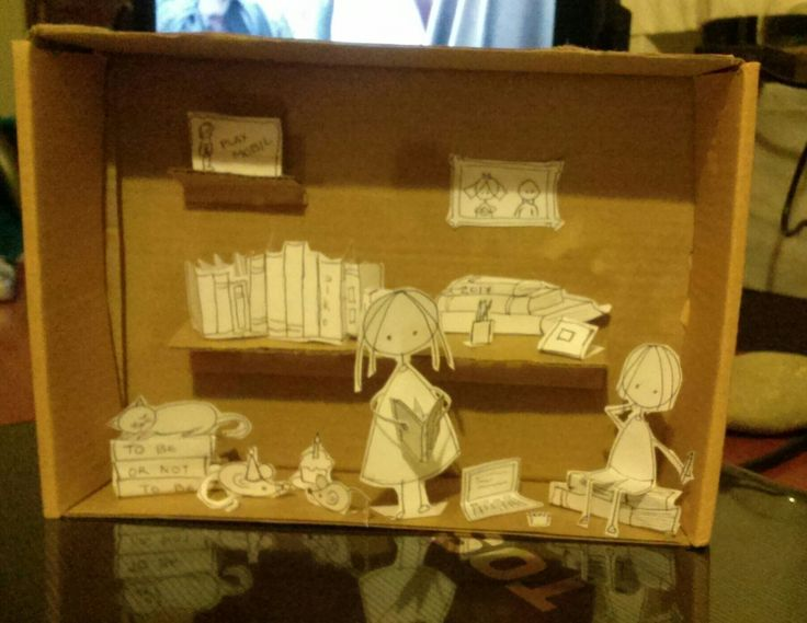 Diorama for a married couple of writers!  Inspired from Cara Carmina!
