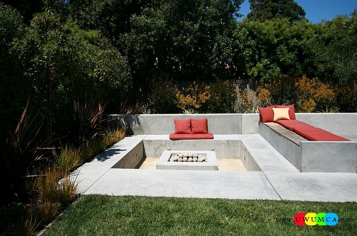 Outdoor / Gardening:Create Outdoor Lounge With Sunken Seating Area Ideas Build Conversation Pits Sunken Sitting Areas In Pool Garden Outside Decor Design Create A Cool Conversation Pit Outdoors With Sunken Spaces Elevate The Style Quotient Of Your Outdoor Lounge With Sunken Seating Area