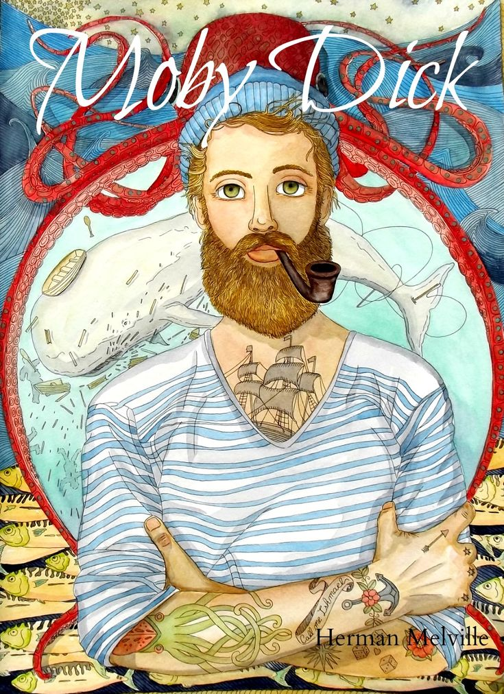 Ultra-book de rosedraft Portfolio : Portfolio 2014 #moby dick #Illustration #ishmael #whale #melville #fisherman #tattoo