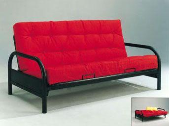 alfonso black curve arm span futon frame