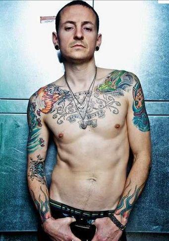 God of scream ,chester bennington tattoos