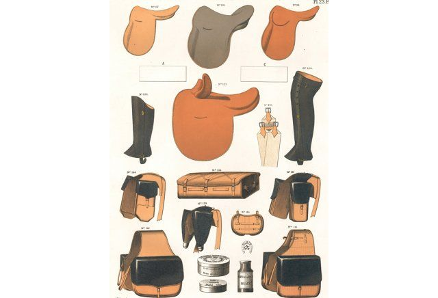 French Equestrian Supplies, C. 1900