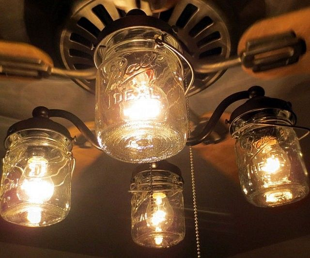 Give any room in your home a quaint hipster ambiance by installing this stylish mason jar ceiling fan light. While the fan provides a nice cool breeze, the mason jar light fixtures create a nice warm glow that make this a wonderful accent for any rustic or country styled home.