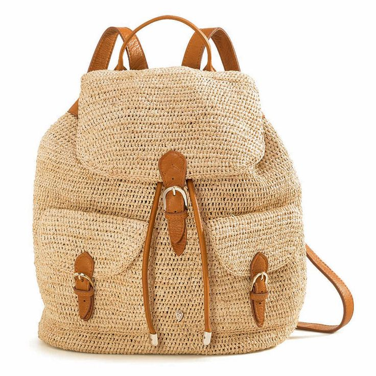 BAKARI /raffia crochet backpack