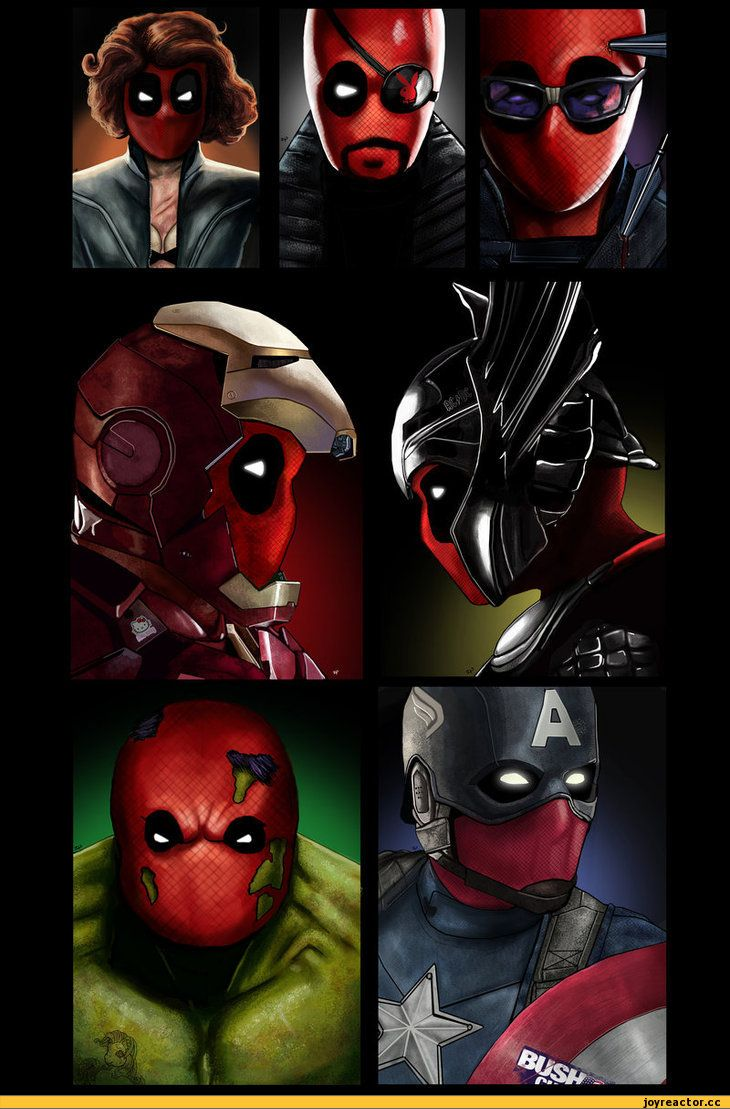 The Avengers replaced with DEADPOOL. Lol there is no words on how great this is