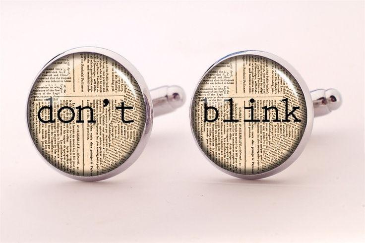 Don't blink Cuff links, 0203CS from EgginEgg by DaWanda.com