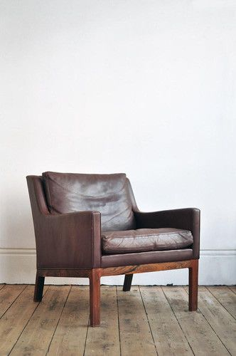 LEATHER CHAIR. via The Cools