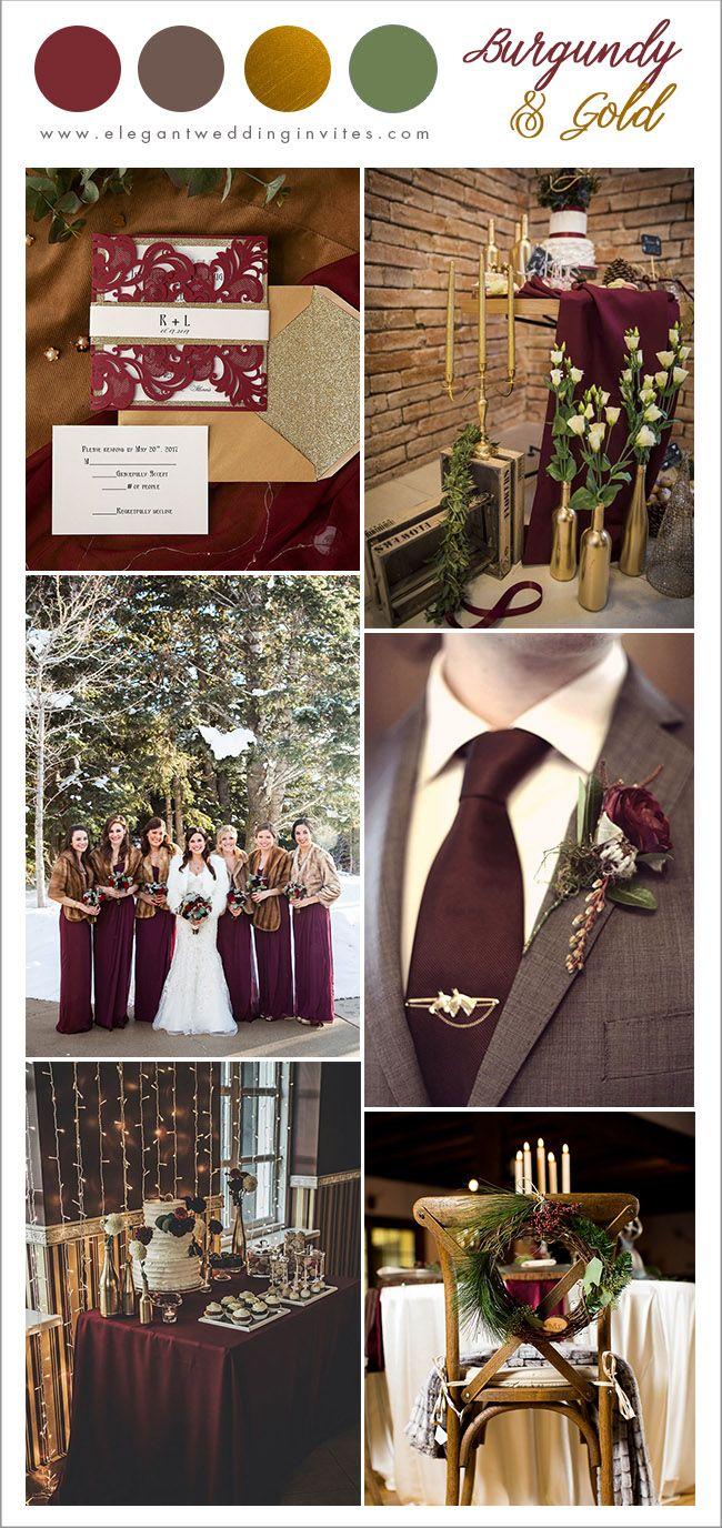 7 Pretty Winter Wedding Color Ideas With Christmas Festive Spirits Elegantweddinginvites Com Blog Gold Winter Wedding Gold Wedding Colors November Wedding Colors
