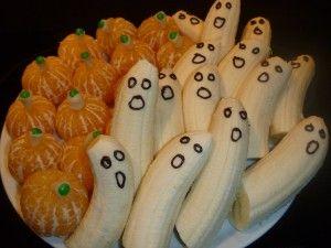 Bananen Gespenst und Kürbis von Mandarinen