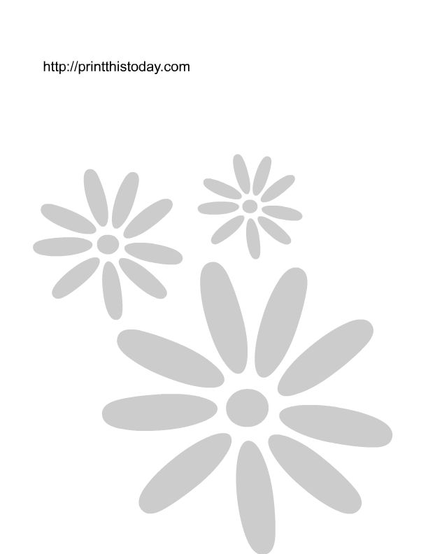 Small cute painting templates free printable flower wall for Printable stencils for canvas painting