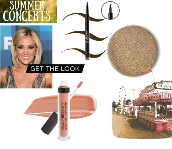 SET 117- SUMMER CONCERT AND CARRIE UNDERWOOD MAKEUP SET. Includes: Creme De Matte Liquid Lipstick in shade FAITH. Mineral anti-aging eyeshadow in shade WHIMSY and Doll eyes on you liquid eyeliner pen in shade MUDSLIDE.