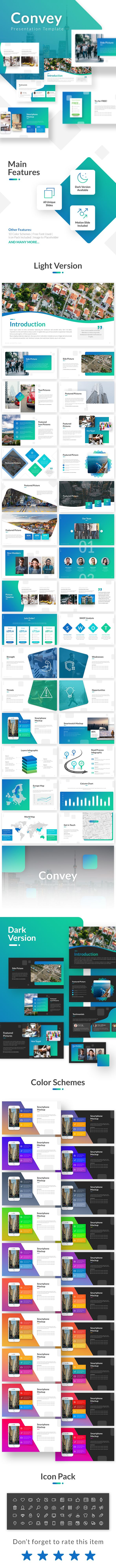 Convey Presentation Template - Business PowerPoint Templates