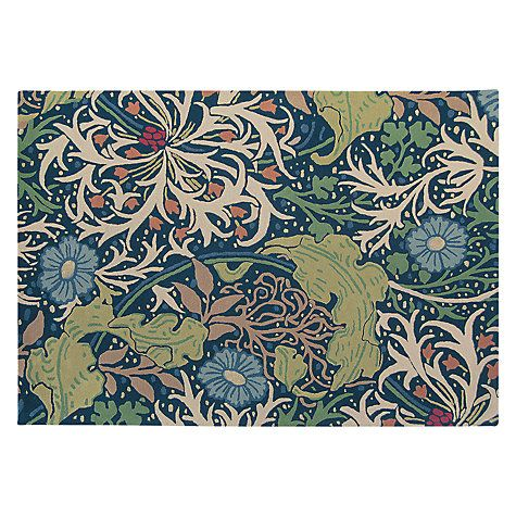 Buy Morris & Co Seaweed Indigo Rug Online at johnlewis.com
