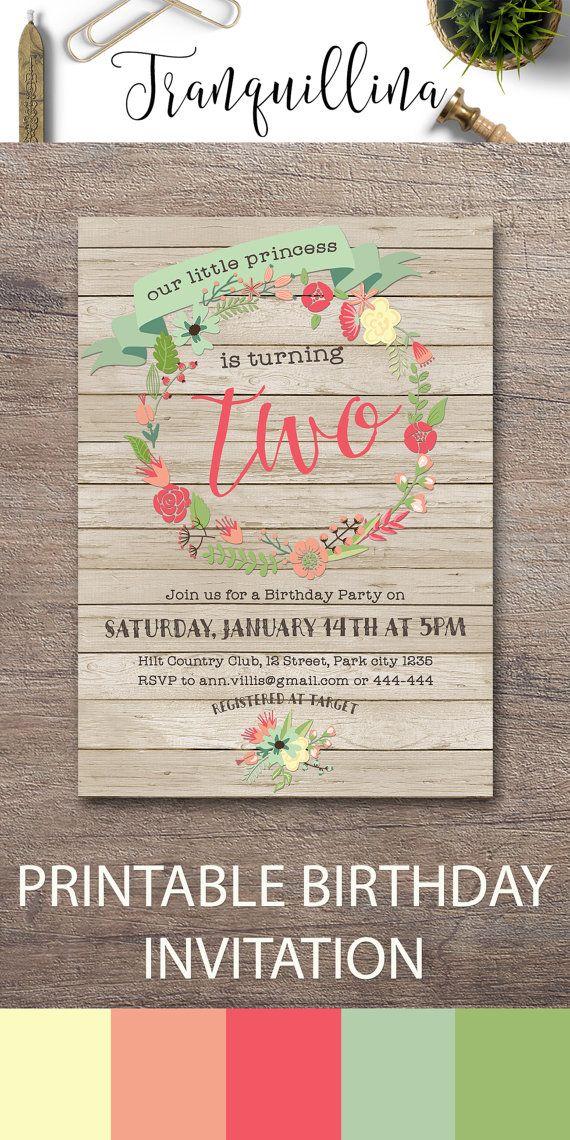girl birthday party invitations printable