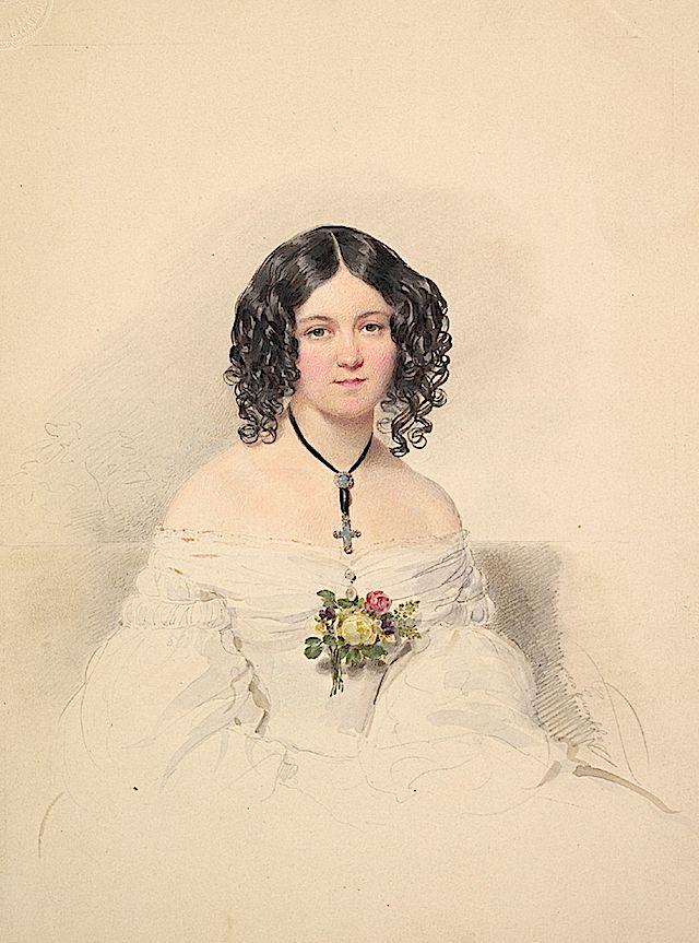 1841 (?) Countess Hélène Esterházy, née Countess Bezobrazov by Moritz Michael Daffinger (Metropolitan Museum of Art - New York City, New Yor...