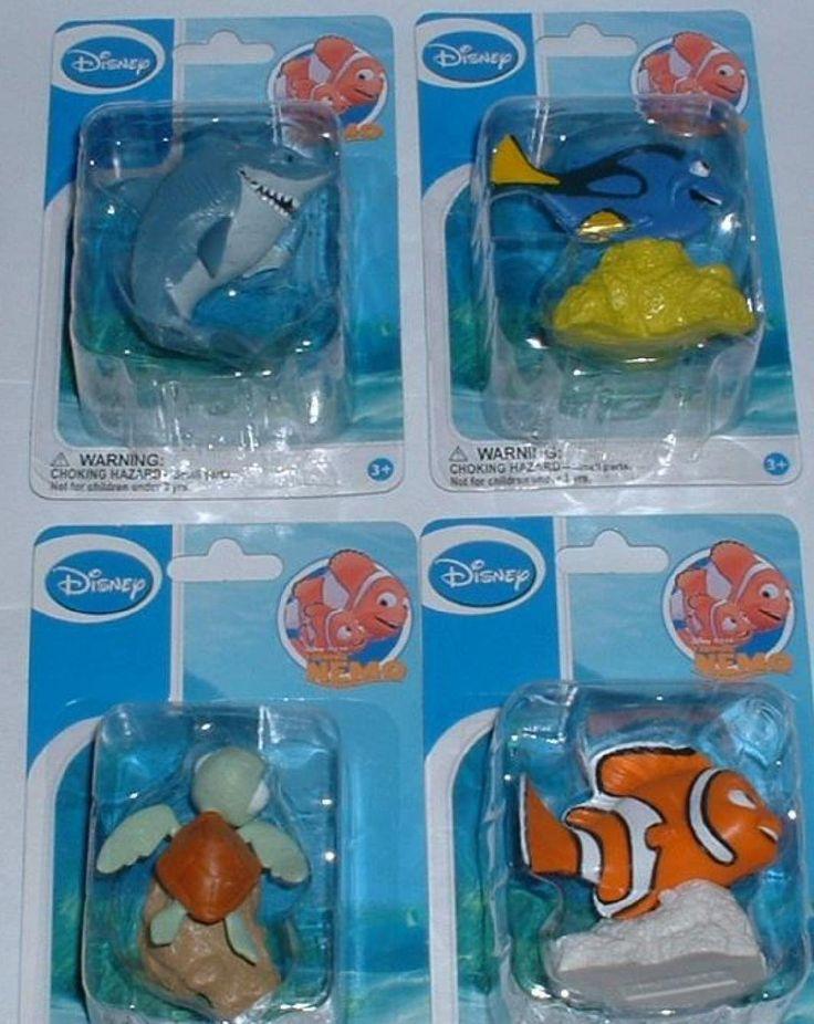 Disney finding nemo figure set cake topper for Nemo decorations