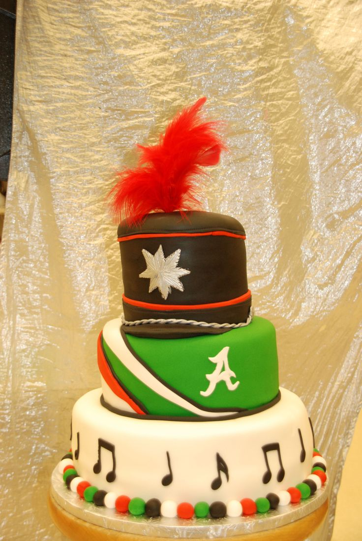 Marching Band Cake - Marching Band Cake with Hat