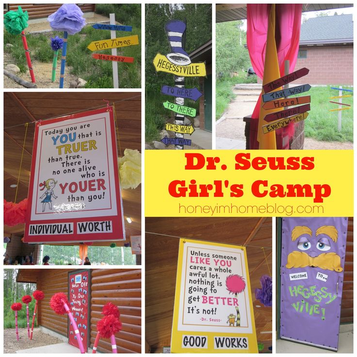 Honey I'm Home: Dr. Seuss Girl's Camp - Decorations