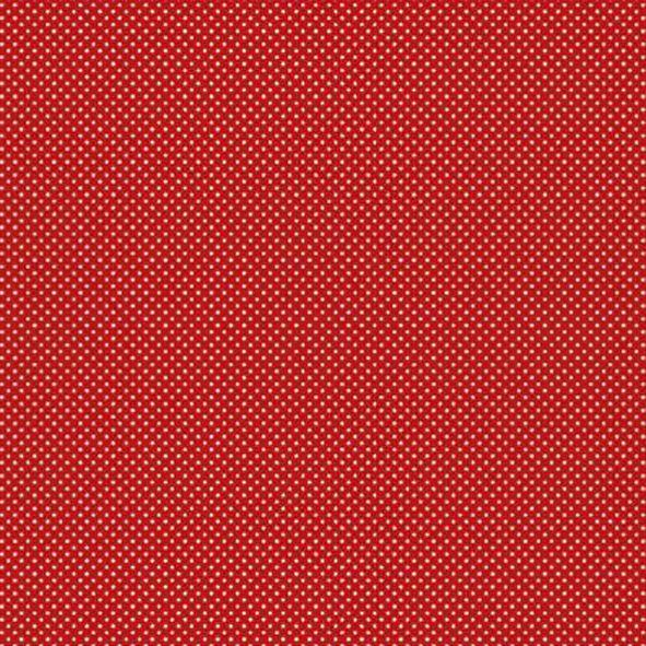 Bavlněná látka Puntíčky tečky na červené