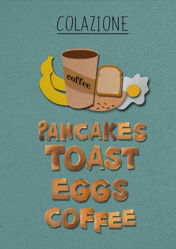poster pancakes  www.behance.net/SaraSun