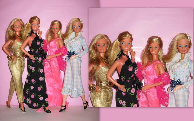https://flic.kr/p/eiYy3W | My Beautiful Superstar | ::Picture Pretty Superstar Barbie, Made in Taiwan from 1976, Superstar Barbie in Superstar Summer Dance Fashion 1977, Superstar Barbie in Basic dress, Made in Taiwan from 1977 & Superstar Barbie in Best Buy from 1977, Made in Philippines::  I love them so much, they are so pretty, sweet and brilliant......  Davvero molto carine, le superstar che ho trovato ieri sono in questa foto, quella con il vestito, la collana, anello e orecchini l...
