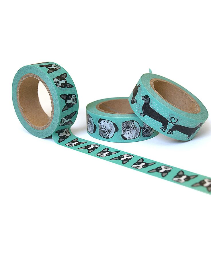 Take a look at this Sea Foam Dog Washi Tape Set today!