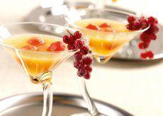 Galia- en watermeloen-soep met gesuikerde besjes