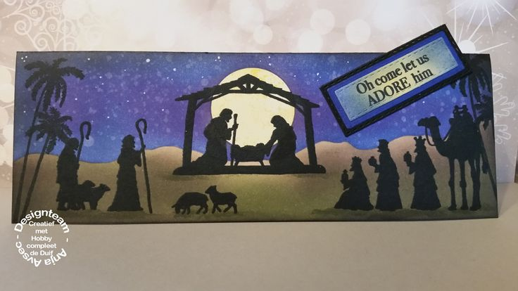 Creative expressions - nativity silouette