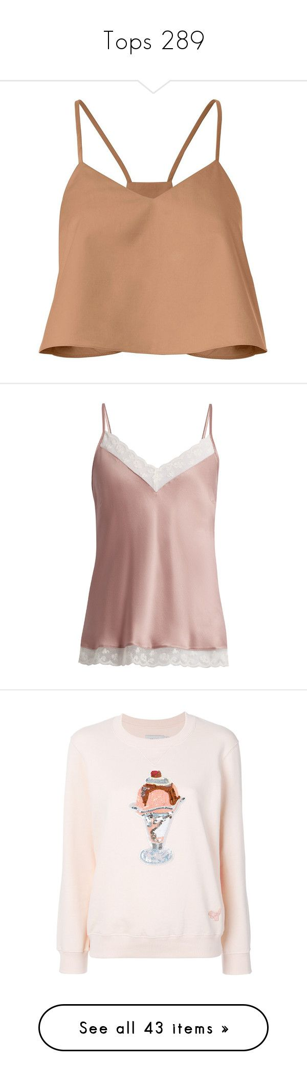 """""""Tops 289"""" by singlemom ❤ liked on Polyvore featuring tops, v neck crop top, beige crop top, ruched top, cropped pullover, v-neck tops, pink, pink silk camisole, silk camisole tops and silk camisole"""