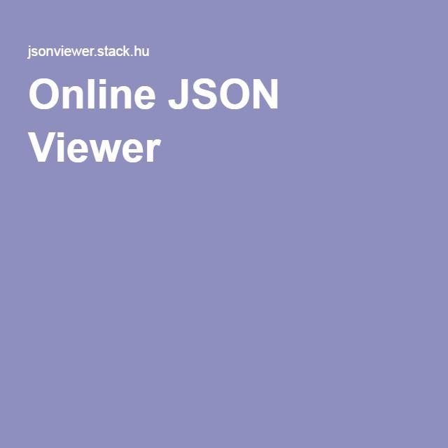 Online JSON Viewer