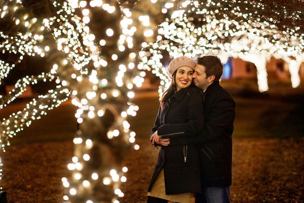Engagement photo ideas for holidays - Choose the Right Setting
