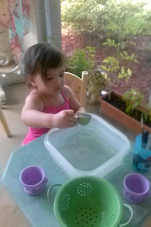 Water play for toddlers