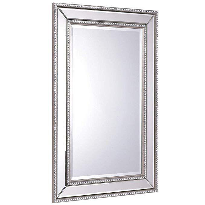 Tangkula 24 X 36 Wall Mirror Wall Mounted Wood Frame Rectangular Bathroom Vanity Mirror Bathroom Vanity Mirror Mirror Mirror Wall