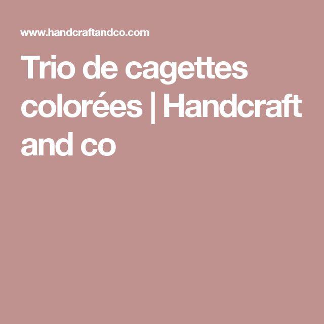 Trio de cagettes colorées | Handcraft and co