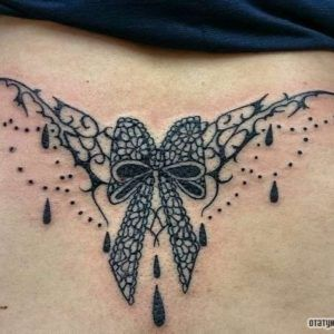 """Bow with ornaments in the style of """"Baroque"""" on lower back girls – Tattoo Ki…"""