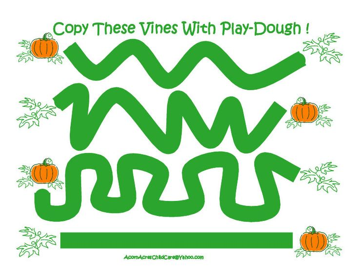 Play Dough Pumpkin Vines
