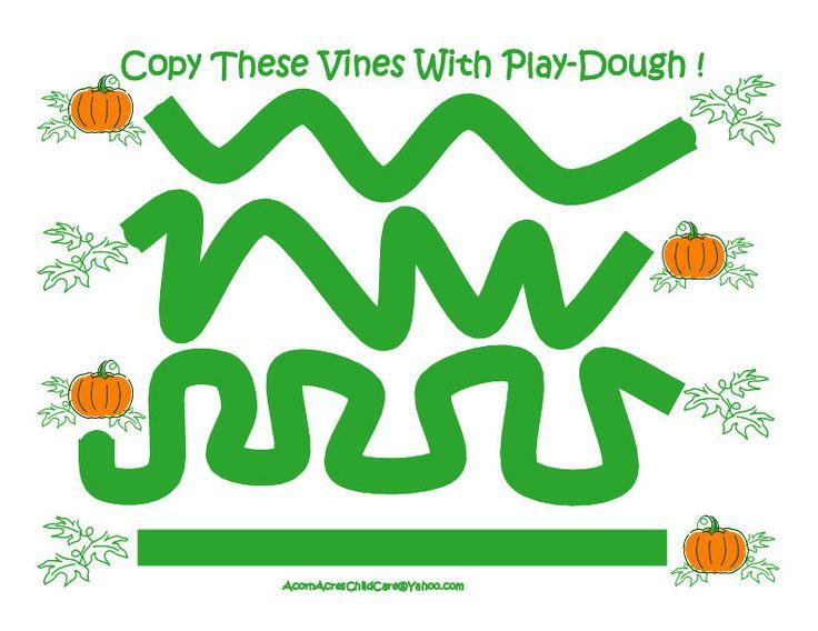 Play Dough Pumpkin Vines