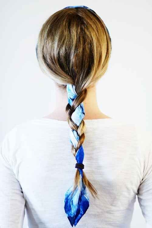 Use a headscarf as your third chunk of hair, incorporating it into your braid. | 15 Ways To Up Your Braid Game