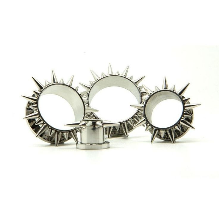 Spikey Steel Tunnel - Decorative Metal Plugs - Metal - Plugs | UK Custom Plugs - Ear Gauges, Flesh Tunnels for Stretched Ears