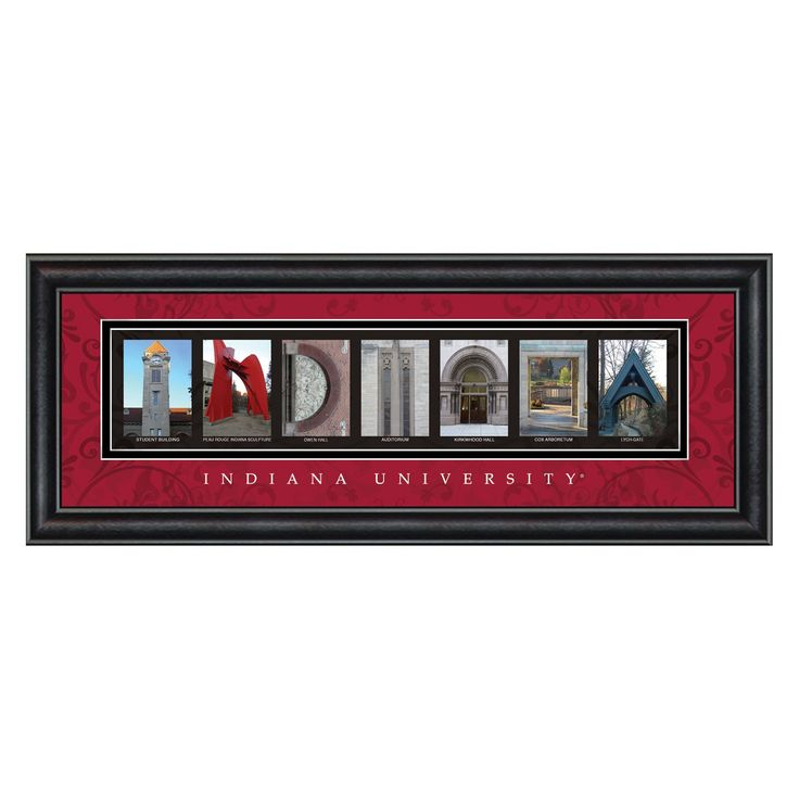 College Letter Framed Wall Art - Indiana University - 20W x 8H in. - CLAL1B18INDI