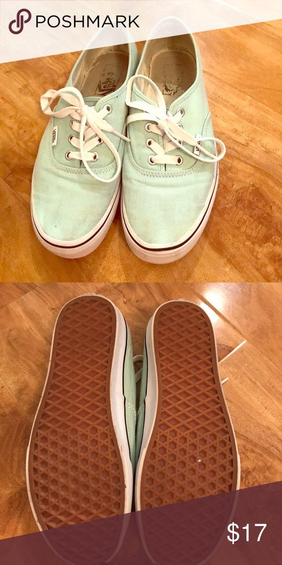 Women's Mint Vans Women's mint VANS.   Size 7.5 Vans Shoes Sneakers