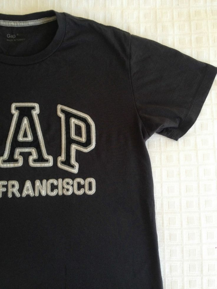 Mens Gap Black Cotton Tee Shirt - Small - Now Selling! Click through to go to eBay auction.