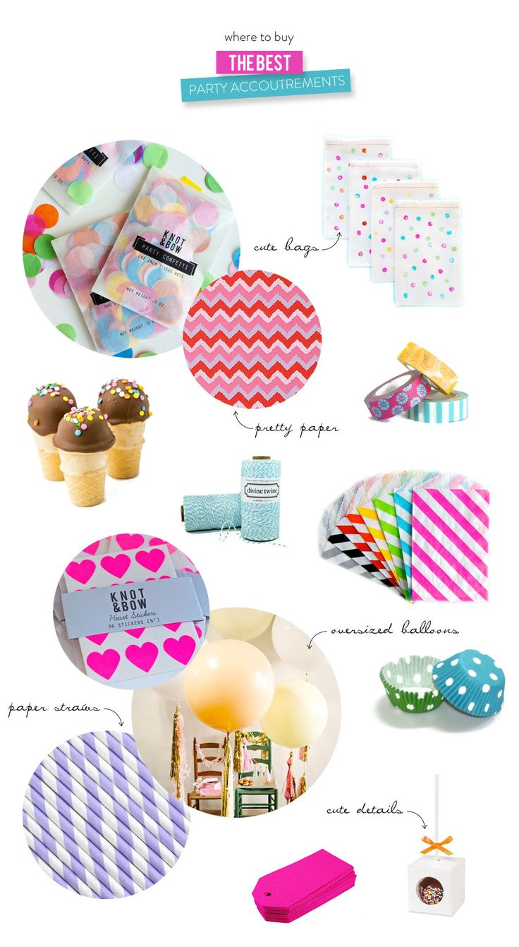 Where to Buy the Best Party Accoutrements  Read more - http://www.stylemepretty.com/living/2013/09/27/where-to-buy-the-best-party-accoutrements/