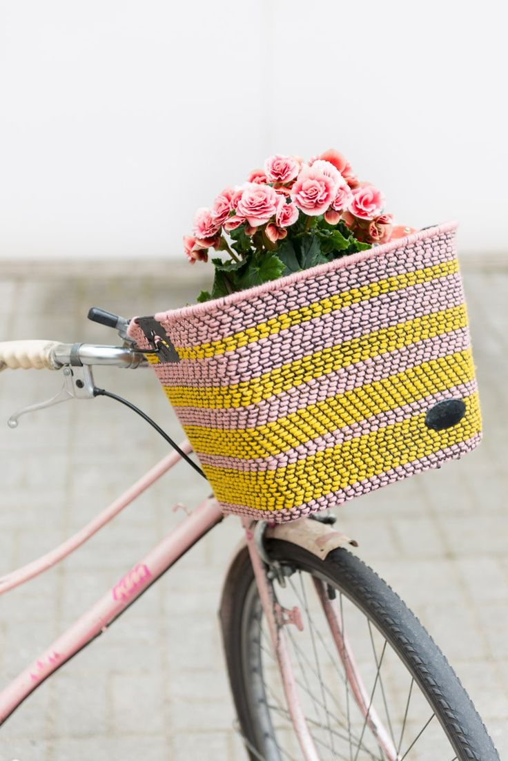 DIY: woven bike basket