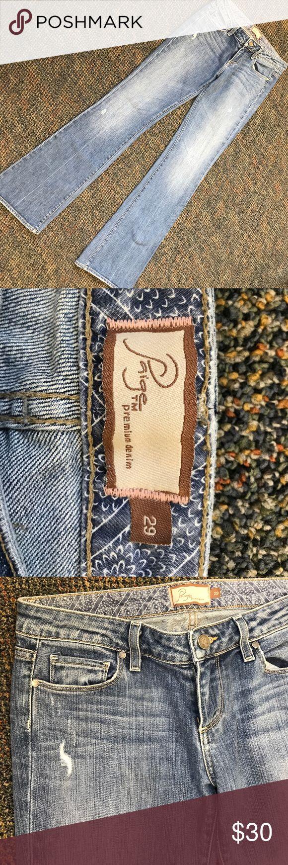 Paige Premium Denim Laurel Canyon jeans Gently used Paige Laurel Canyon low rise boot cut jeans...excellent condition! Paige Jeans Jeans Boot Cut