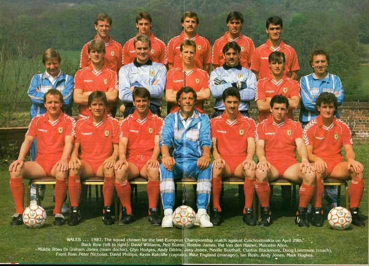 Wales team group in 1987.