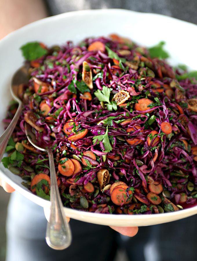 Purple power salad for a picnic #raw #vegan
