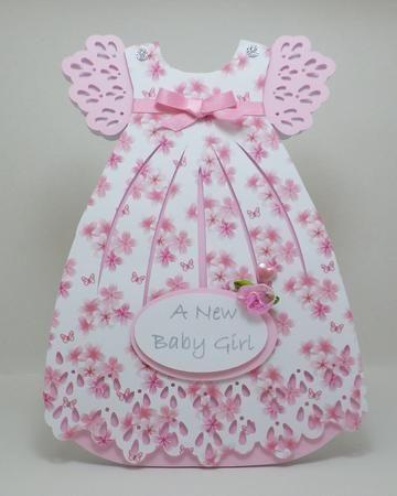 Открытка для новорожденной девочки своими руками платье, днем кинолога картинки